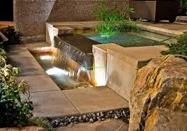 outdoor water features with lights outdoor water features