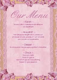 printable menu template free printables pinterest menu