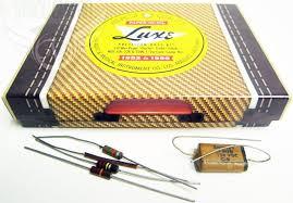 luxe 1952 1956 precision p bass repro capacitor kit nos 1mfd 150v