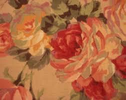 Vintage Drapery Fabric Upholstery Fabric Vintage Etsy
