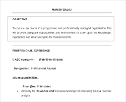 sample resume with objective best personal assistant resume