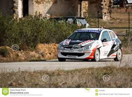 peugeot 206 gti peugeot 206 gti during portuguese open rally editorial photo