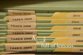 How To Organize The Home Office A Bowl Full Of Lemons - Home office filing ideas