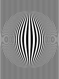 op bulging vertical stripes black and white one