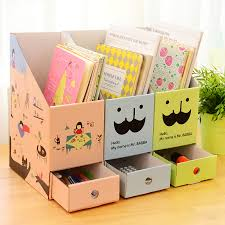 cute desk organizer tray 3pcs lot korean cute diy file holder book magazine organizer box