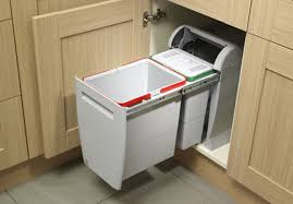 recycle bins for kitchen cabinets island with trash and recycling