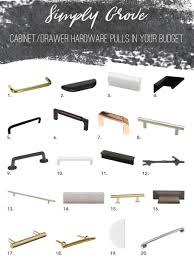 Cabinet And Drawer Hardware by Hardware Pulls And Knobs In Your Budget Simply Grove
