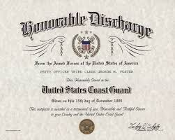 honorable discharge certificate u s coast guard honorable discharge certificate
