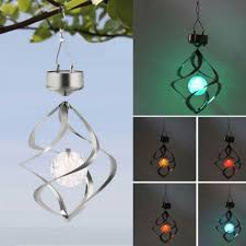 color changing solar string lights diy color changing solar powered led wind chimes spinner outdoor