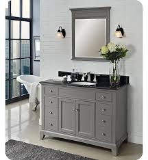 Black Bathroom Vanity With Sink by 48 U0027 U0027 Morden Gray Bathroom Vanity Elegant Mirror With Frame Black