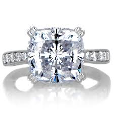 5 carat engagement ring radiant 5 carat cushion cut cz engagement ring