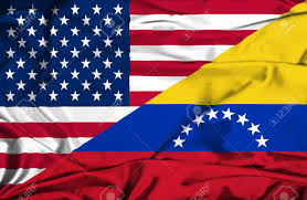Venezuela Flag Colors Waving Flag Of Venezuela And Usa Stock Photo Picture And Royalty