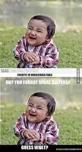 Child Meme - evil baby meme 9gag