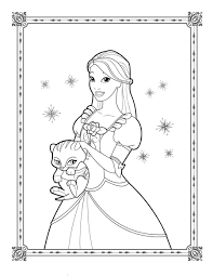 coloring page cute barbie sketch games coloring pages princess