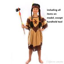 Cowboy Halloween Costume Child Native American Indian Princess Dress Costume Boy Soldiers