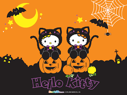 hallowween wallpaper halloween hello kitty desktop wallpaper wallpapersafari