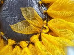 sunflower mesh wreath diy sunflower wreath do more for less