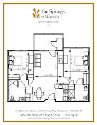schematic floor plan senior apartment floor plans the springs at missoula
