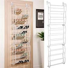Shoe Rack For Closet Door 36 Pair The Door Hanging Shoe Rack Organizer