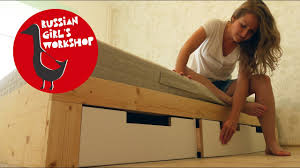 Diy Twin Bed Frame With Storage Twin Bed Frame With Storage Diy Youtube