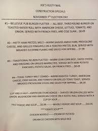 joe u0027s rusty nail restaurant home bellevue pennsylvania menu