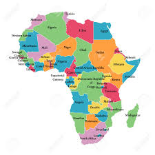 Map If Africa by Editable Map Of Africa With Border Outlines Royalty Free Cliparts