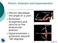 Human Physiology And Anatomy Pdf Flexion Extension And Hyperextension Human Physiology And