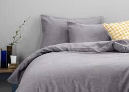 missoula linen cotton mix chambray bed set indigo made com