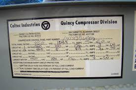 150hp quincy rotary air compressor 460v 78 000hrs power ync