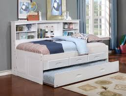 donco white twin bookcase daybed with 3 drawer storage trundle