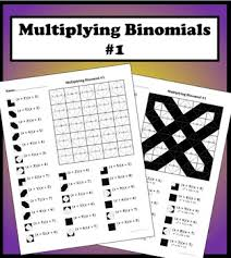 multiplying binomials color worksheet 1 by aric thomas tpt