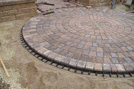 Patio Paver Base Calculator Patios Image Detail For Pavers Laid In A Circular Pattern To Form A