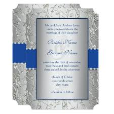 royal blue and silver wedding monogram royal blue silver wedding invitations zazzle
