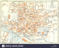Lourdes France Map by France Pau 1926 Vintage Map Stock Photo Royalty Free Image
