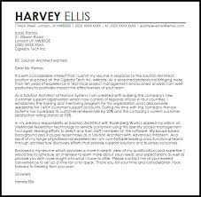 cover letter for architect solution architect cover letter sle livecareer