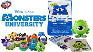 monsters university minis mystery figure blind bags toy review