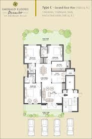 floor plans of emaar mgf emerald floors premier gurgaon