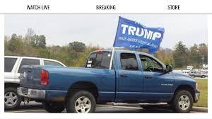 american flag truck multiple shots fired at truck displaying u0027make america great again