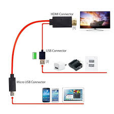 hdmi cable for android 1 8m 5pin 11pin mhl micro usb to hdmi converter 1080p hd tv cable