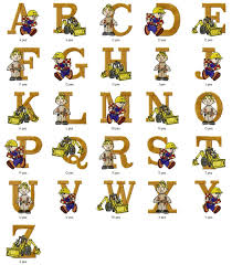 Home Builder Logo Design Bob The Builder Cartoon Character Alphabets Font Embroidery