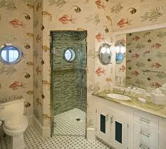 wallpaper bathroom designs 32 sea style bathroom interior and decorating inspiration home