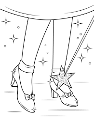Ruby Shoes Coloring Page Free Printable Coloring Pages Wizard Of Oz Coloring Pages