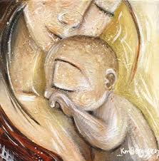 Items Similar To Art Print - items similar to mother and baby golden skin cuddle solace
