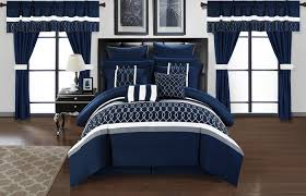 home design comforter chic home dinah 24 comforter set pleated bed in a bag navy