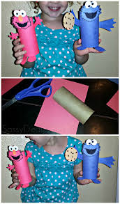 cheap elmo u0026 cookie monster toilet paper roll crafts for kids