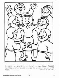 joseph and his brothers coloring page for coloring pages of joseph