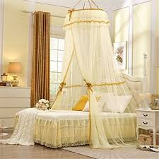 Lace Bed Canopy Hoop Princess Pastoral Lace Bed Canopy Mosquito