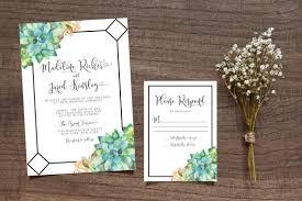 succulent wedding invitations printable succulent wedding invitation leafy invitation