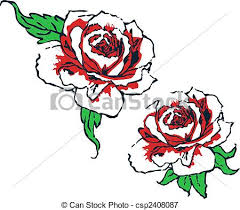 design flower rose drawing fancy rose tribal design vectors illustration search clipart