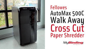 Home Paper Shredders by Fellowes Automax 500c Walk Away Cross Cut Paper Shredder Youtube